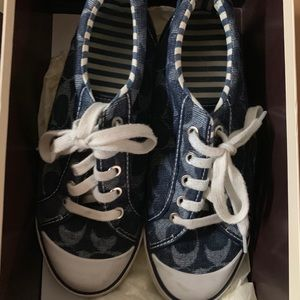 Authentic denim style Coach sneakers